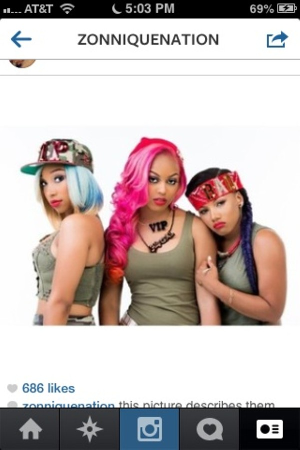 Hat bandana red omg girlz zonnique pullins zonnique