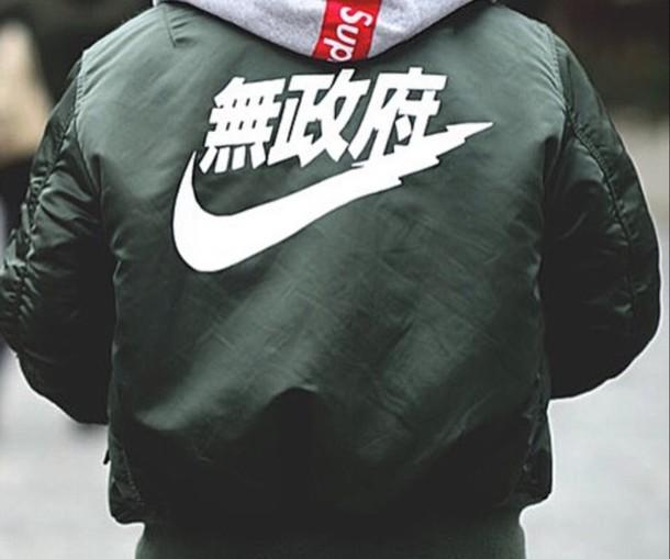 coat bomber jacket olive green bomber jacket nike