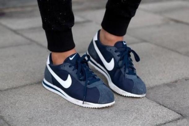 Shoes Nike Running Shoes Run Running Blue Shoes Nike Bleu Marine Nike
