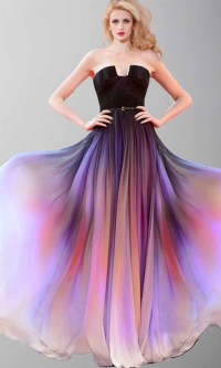 Beautiful Sunset Long Ombre Cape Prom Dresses KSP421 ...