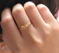 jewels, name ring, silver jewelry, initial name ring ...