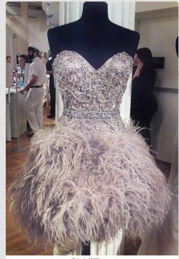 Dress Sexy Party Dresses Sequin Dress Feathers Sparkle