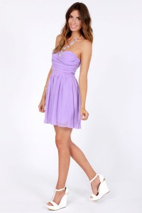 lavender dress, lilac dress, short dress, spring dress