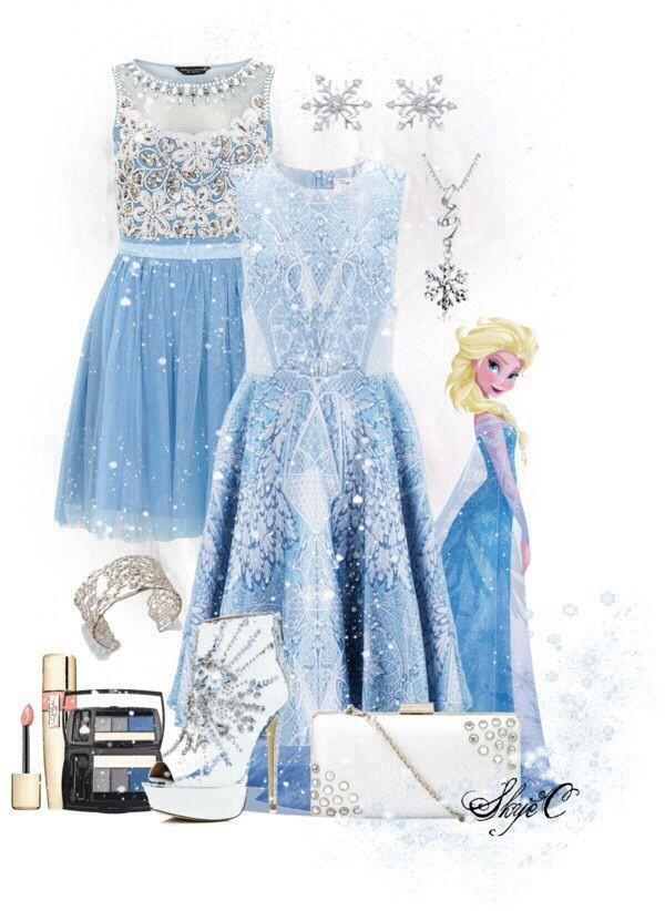 dress elsa cute disney disney frozen blue dress light blue sparkly dress snowflake