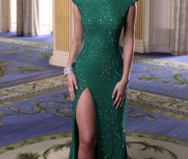 Dress Green Dress Green Emerald Green Emerald Green Emerald Dress Slit Dress Side Split Maxi Dress