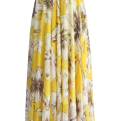 Beach Chairs Target Office Chair Qatar Skirt: Marvel Floral Maxi Skirt In Yellow, Chicwish, Skirt, Yellow ...