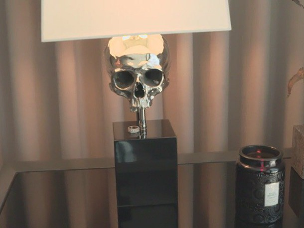 Home Accessory Skull Lamp Lamp Grey White Kylie