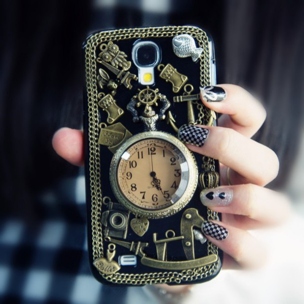 Phone cover pocket watch samsung galaxy s4 case vintage
