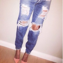 Distressed Kitchen Chairs Safety Shoes For Women Jeans, Ripped High Waisted Jeans ...