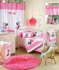 baby bedding sets Disney Baby Minnie Mouse Flower 4 Piece ...