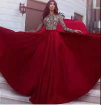 Dress: prom dress, red prom dress, gown, red, burgundy ...