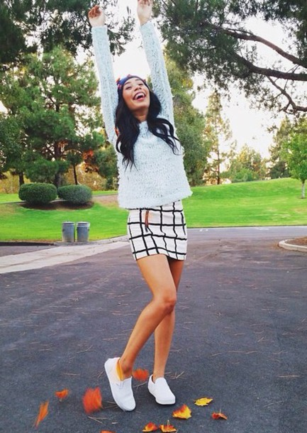 Skirt black white black and white skirt mylifeaseva fall outfits sweater fluffy fuzzy