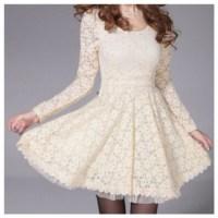Dress: cute, lace dress, bows, fashion, fall outfits, cute ...