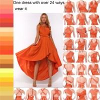 dress, multiway bridesmaids convertible dress, multi way ...
