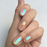 nail polish holographic clear