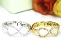 Women's Infinity Ring Engraved Best Friends Ring Jewelry ...