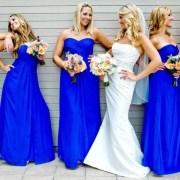 dress bride long blue navy
