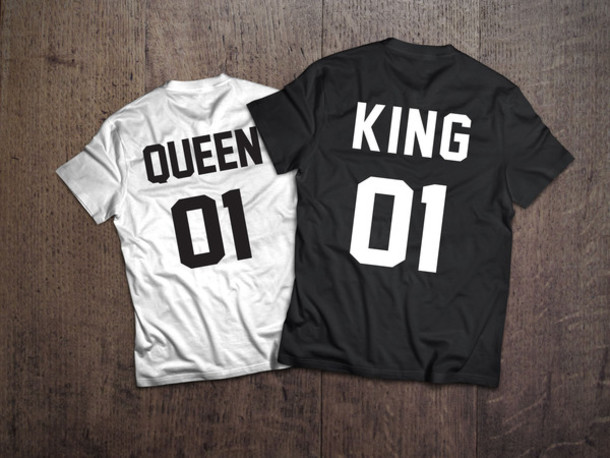 Shirt Queen King Couple T Shirts Couple Sweaters