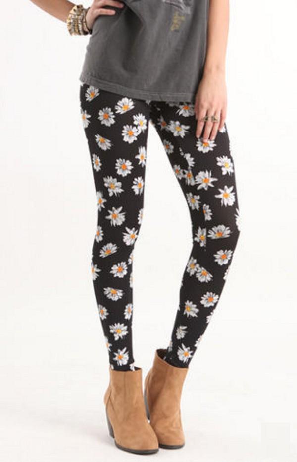 Pants leggings daisy unf grunge soft grunge pacsun