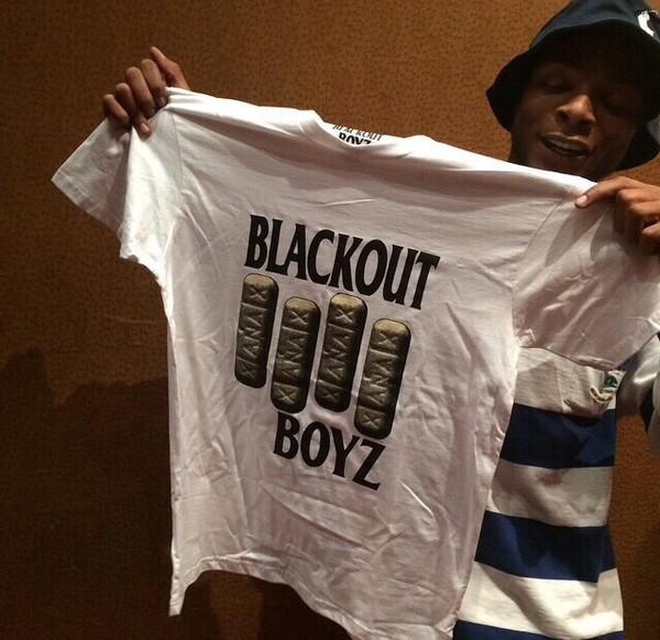 tshirt xanax black out boys white black white t