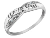'I Love You' Diamond Promise Ring in 10K White Gold - My ...