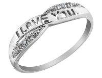 'I Love You' Diamond Promise Ring in 10K White Gold - My ...