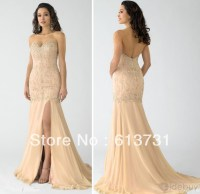 Wholesale Nude Fabulous Mermaid Sweetheart Evening Prom ...