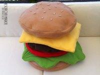 Food pillow - Hamburger cushion - Decorative hamburger ...