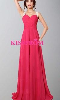 Coral Floral Lace Long Straps Prom Dresses UK KSP425 ...