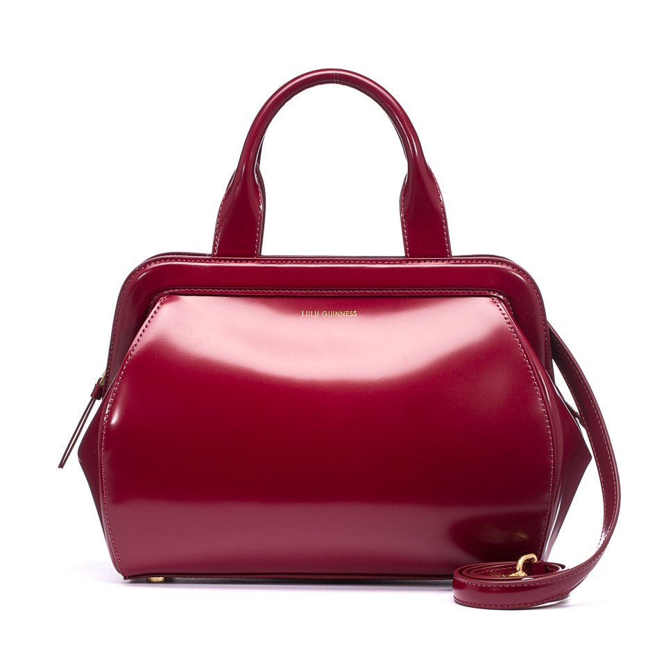 Image result for LULU GUINNESS RED HANDBAG