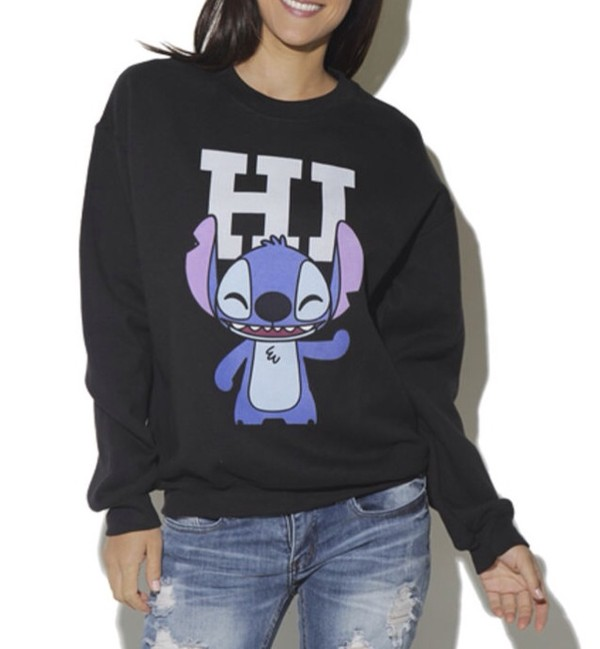 Sweater hipster lilo and stitch disney graphic tee