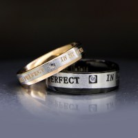 Engraved Promise Rings for Both Men and Women Set of 2 ...