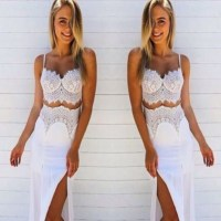 dress, maxi, two