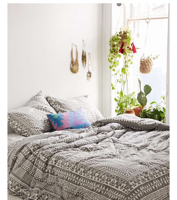 home accessory white grey bedding tumblr bedroom
