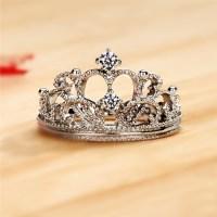 Exquisite Princess Crown Cubic Zirconia 925 Sterling ...