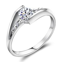 0.6 Carat Diamond Personalized Name Engraved Promise Ring ...