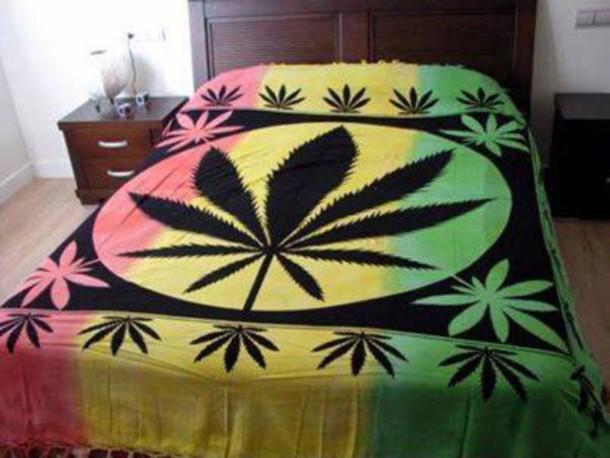 Bag Blanket Smoke Snoker Rasta Bud Pot Bedding