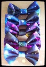 hair bow. space. galaxy. stars
