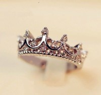 Jewels: tiara ring, ring, silver, diamonds, princess ...