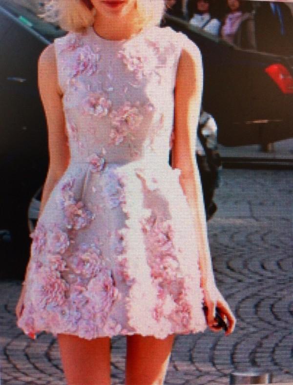 Dress kawaii floral 3d print 3d flower pink pink