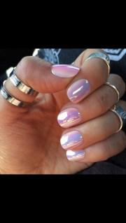 nail polish metallic holographic