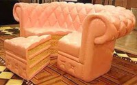 couch, cute, cake, home accessory, sofa