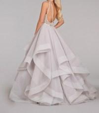 white prom dress, long prom dress, fluffy prom dress ...