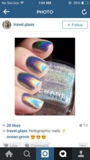 nail polish holographic chanel