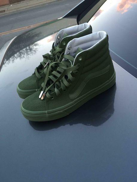 Cute Earphones Wallpaper Shoes Vans Green Suede High Top Sneakers Old Skool