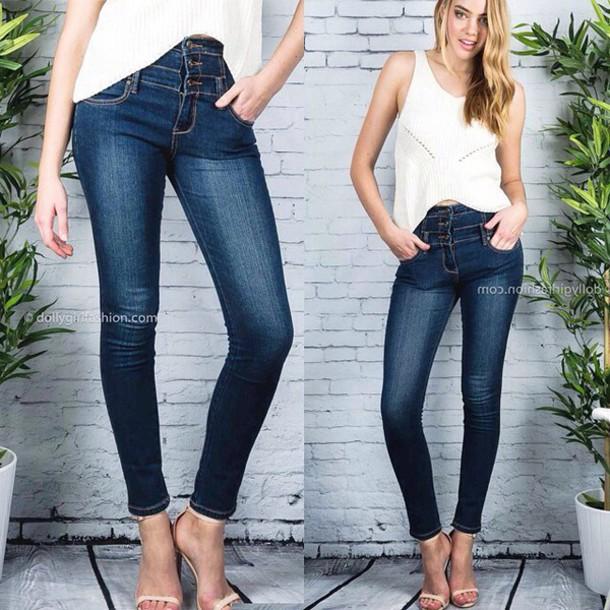 Jeans Dolly Girl Fashion Jeans Jeans Denim Denim Pants Pants Dgf Online Dollygirlfashion Dgf Tight Jeans