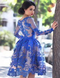 Aliexpress.com : Buy Royal Blue Short Prom Dress Vintage ...