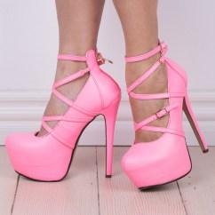 Pink High Heel Chair Hanging Ball Neon Heels