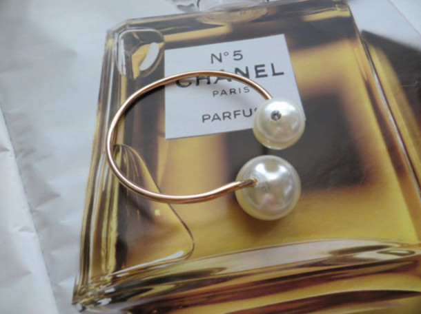 jewels chanel chanel inspired large pearl cuff double pearl bracelet etsy chanel runway