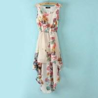 Dress: floral, hi low dress, floral dress, spring, clothes ...